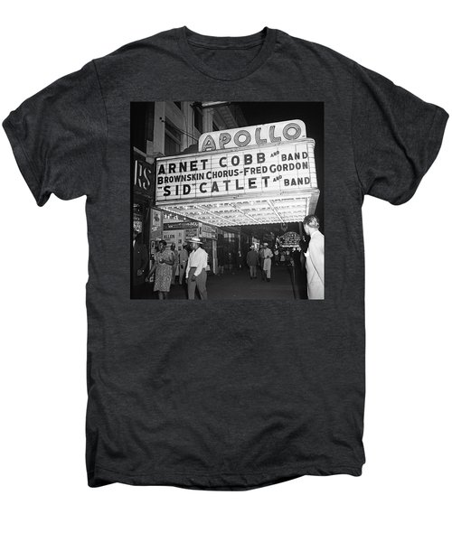 Harlem's Apollo Theater Men's Premium T-Shirt by Underwood Archives Gottlieb