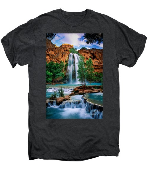 Havasu Cascades Men's Premium T-Shirt by Inge Johnsson