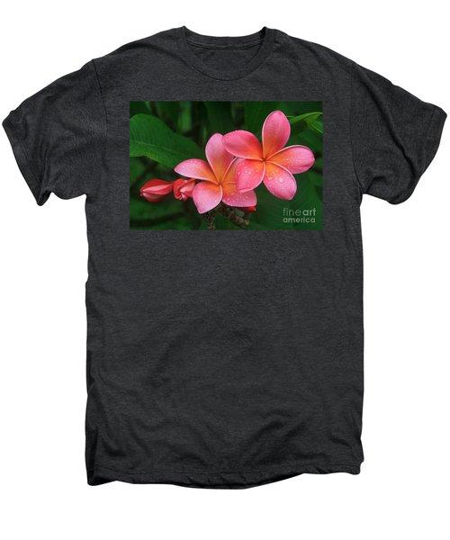 He Pua Laha Ole Hau Oli Hau Oli Oli Pua Melia Hae Maui Hawaii Tropical Plumeria Men's Premium T-Shirt