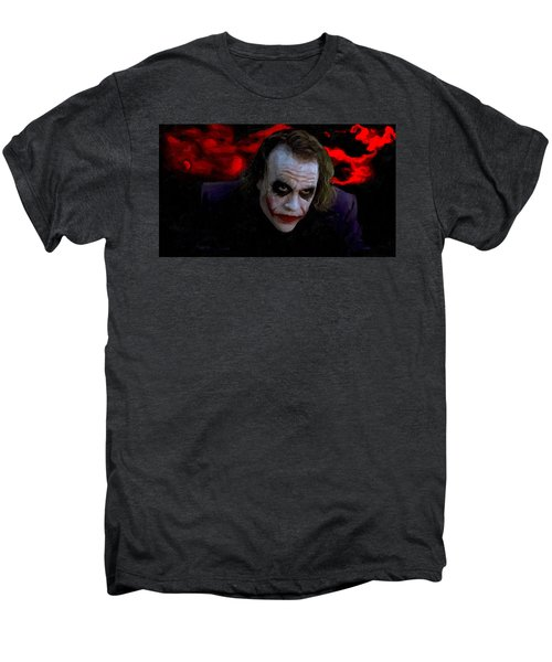 Heath Ledger As Joker Men's Premium T-Shirt by Image World