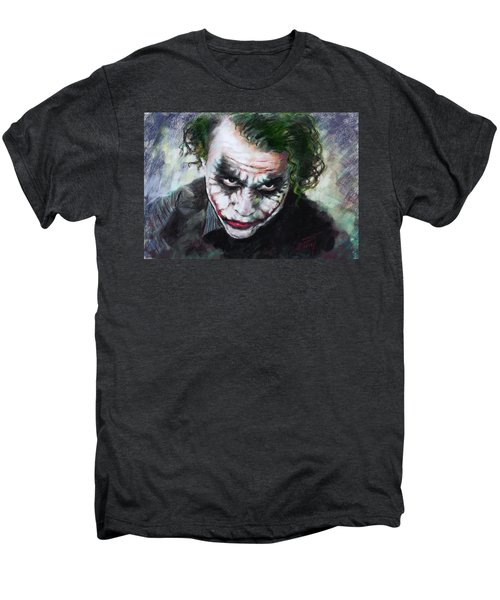 Heath Ledger The Dark Knight Men's Premium T-Shirt by Viola El