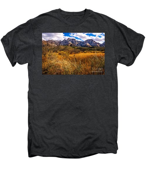 Men's Premium T-Shirt featuring the photograph Here To There by Mark Myhaver