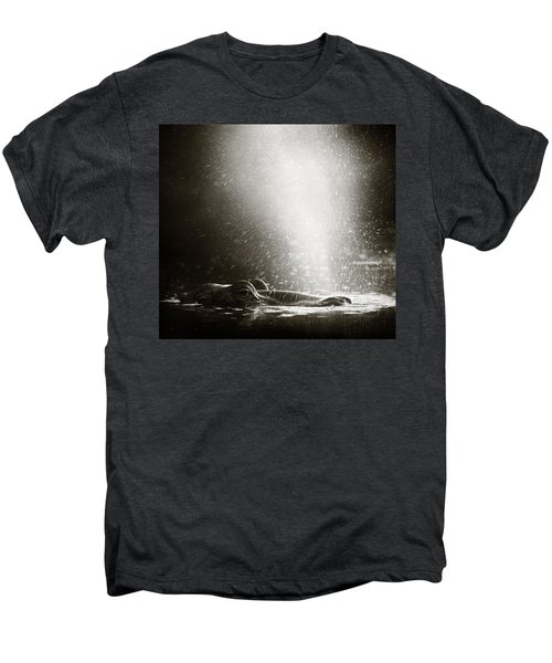 Hippo Blowing  Air Men's Premium T-Shirt