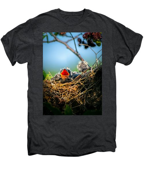 Hungry Tree Swallow Fledgling In Nest Men's Premium T-Shirt