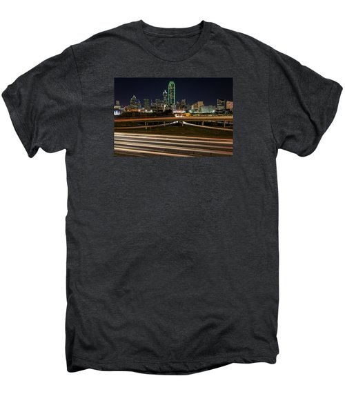 I-35e Dallas Men's Premium T-Shirt by Rick Berk