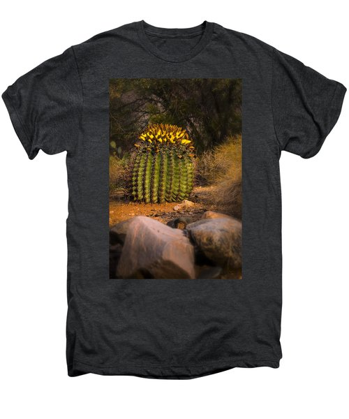 Men's Premium T-Shirt featuring the photograph Into The Prickly Barrel by Mark Myhaver