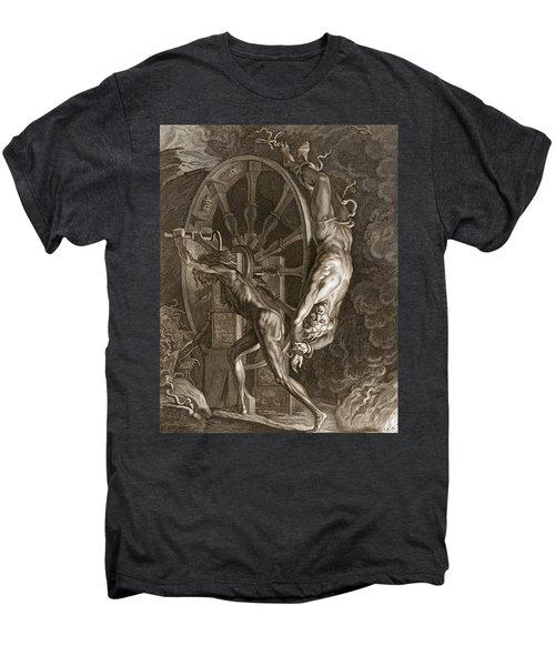 Ixion In Tartarus On The Wheel, 1731 Men's Premium T-Shirt by Bernard Picart