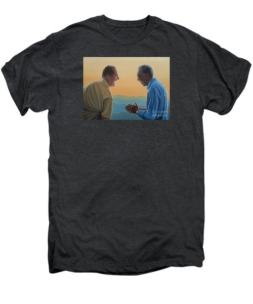 Jack Nicholson And Morgan Freeman Men's Premium T-Shirt by Paul Meijering