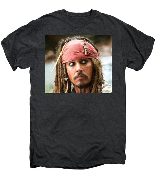 Jack Sparrow Men's Premium T-Shirt by Paul Tagliamonte