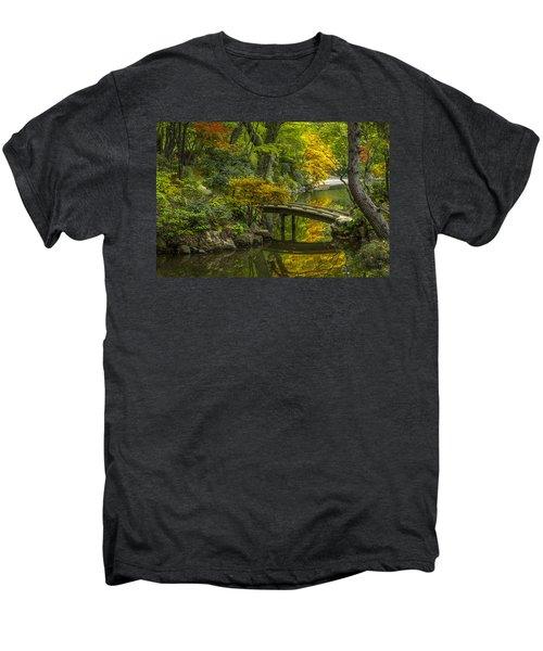 Men's Premium T-Shirt featuring the photograph Japanese Garden by Sebastian Musial