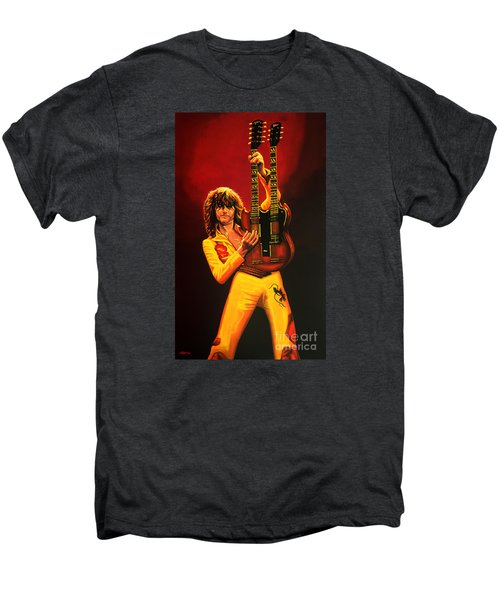 Jimmy Page Painting Men's Premium T-Shirt by Paul Meijering