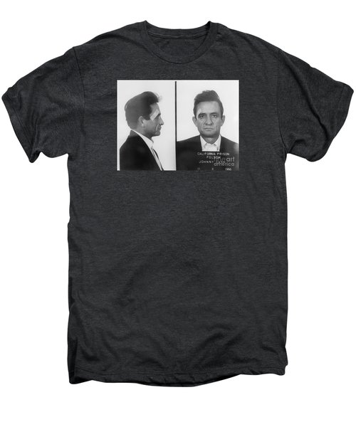 Johnny Cash Folsom Prison Men's Premium T-Shirt by David Millenheft