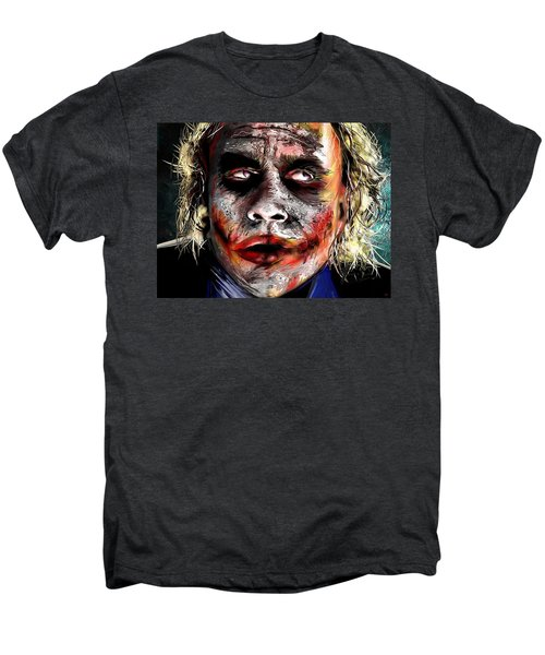 Joker Painting Men's Premium T-Shirt by Daniel Janda