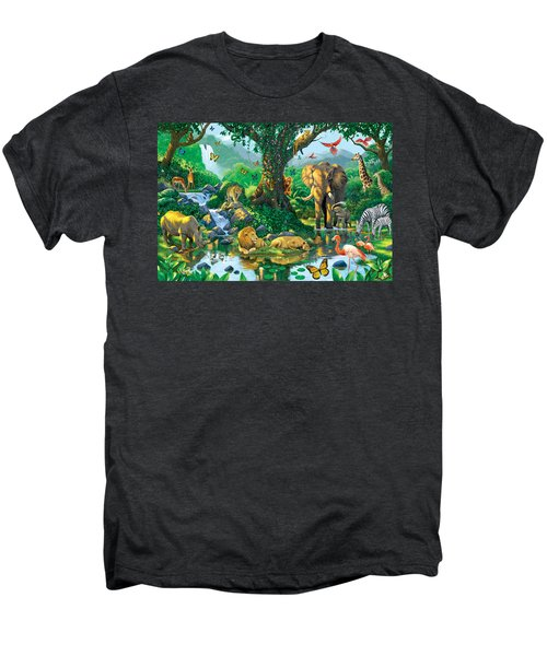 Jungle Harmony Men's Premium T-Shirt by Chris Heitt