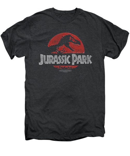 Jurassic Park - Faded Logo Men's Premium T-Shirt