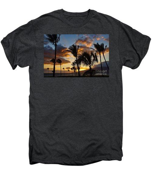 Kihei At Dusk Men's Premium T-Shirt by Peggy Hughes