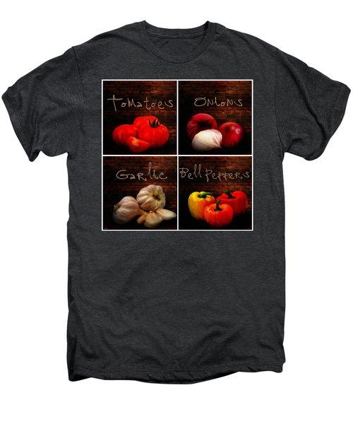 Kitchen Ingredients Collage II Men's Premium T-Shirt by Lourry Legarde