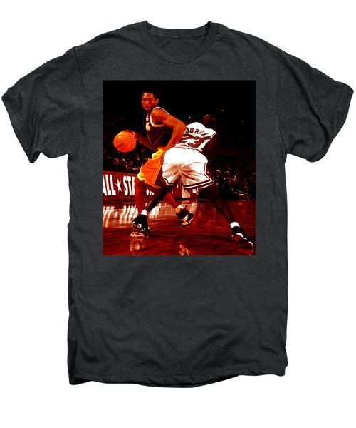 Kobe Spin Move Men's Premium T-Shirt by Brian Reaves