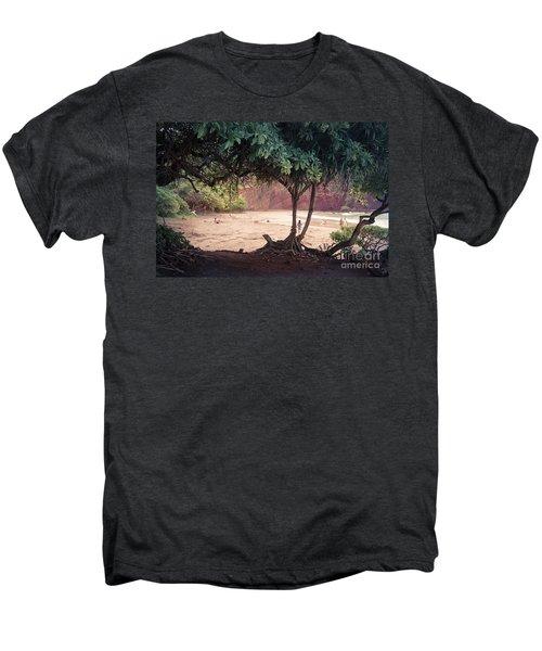 Koki Beach Kaiwiopele Haneo'o Hana Maui Hikina Hawaii Men's Premium T-Shirt by Sharon Mau