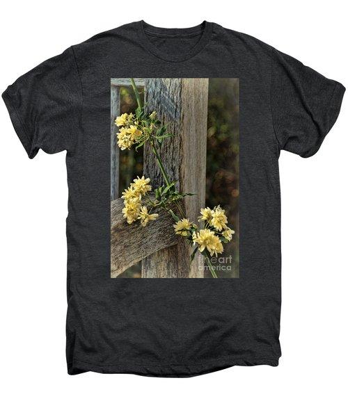 Lady Banks Rose Men's Premium T-Shirt by Peggy Hughes
