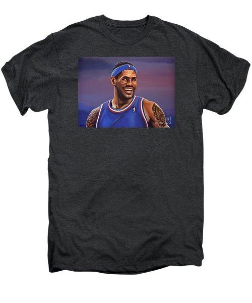 Lebron James  Men's Premium T-Shirt by Paul Meijering