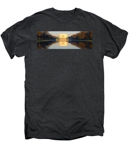 Lincoln Memorial & Reflecting Pool Men's Premium T-Shirt by Panoramic Images