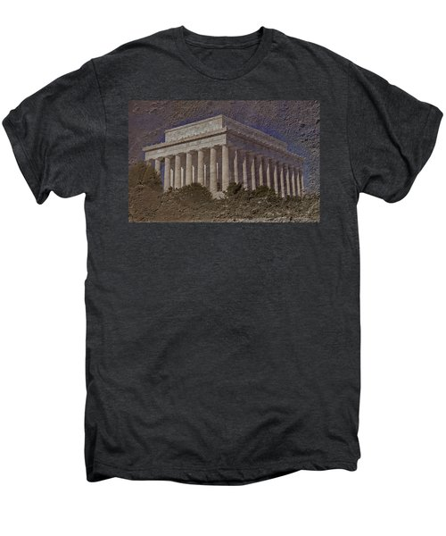 Lincoln Memorial Men's Premium T-Shirt by Skip Willits