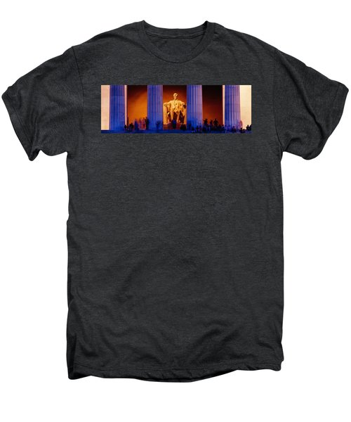 Lincoln Memorial, Washington Dc Men's Premium T-Shirt by Panoramic Images