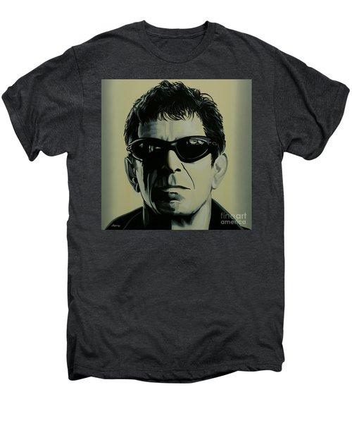Lou Reed Painting Men's Premium T-Shirt by Paul Meijering