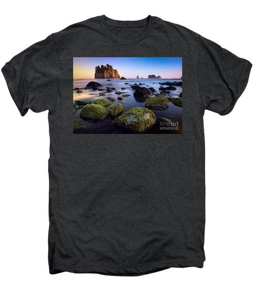 Low Tide At Second Beach Men's Premium T-Shirt