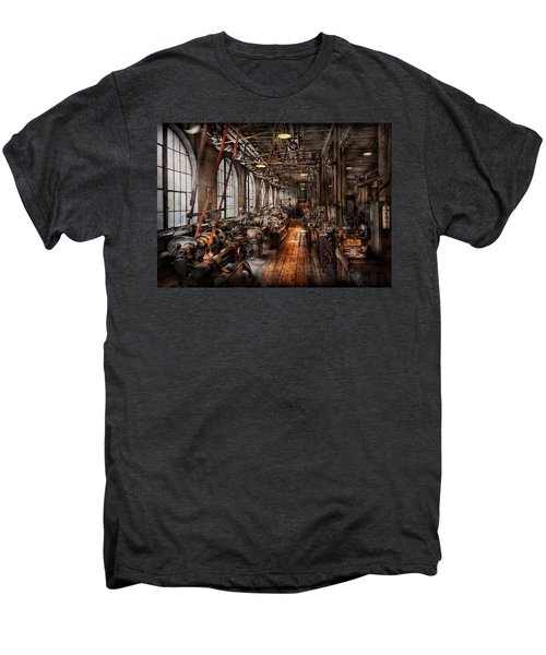 Machinist - A Fully Functioning Machine Shop  Men's Premium T-Shirt