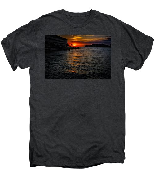 Men's Premium T-Shirt featuring the photograph Marco Island Sunset 43 by Mark Myhaver