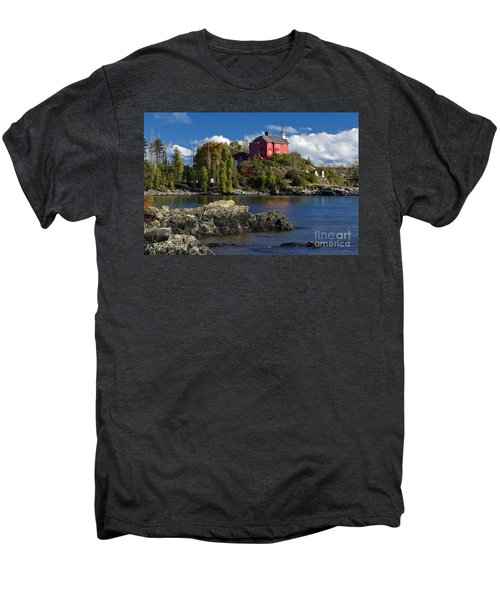 Marquette Harbor Light - D003224 Men's Premium T-Shirt