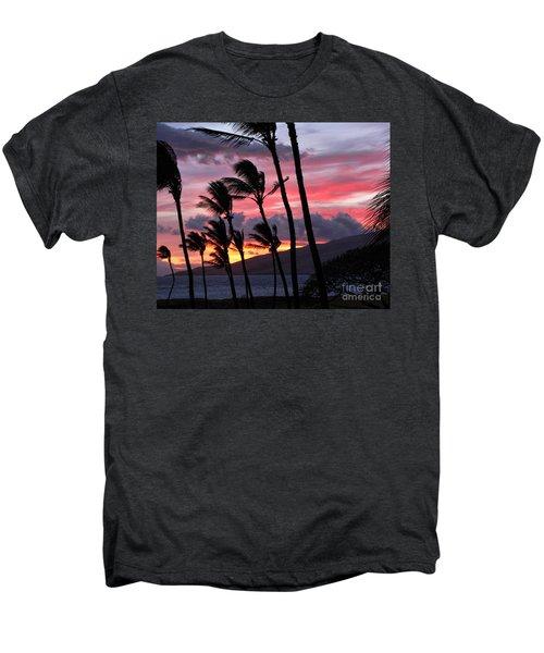 Maui Sunset Men's Premium T-Shirt by Peggy Hughes