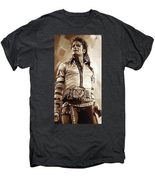 Michael Jackson Artwork 2 Men's Premium T-Shirt by Sheraz A
