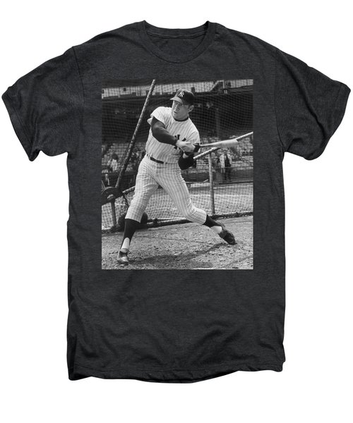 Mickey Mantle Poster Men's Premium T-Shirt by Gianfranco Weiss