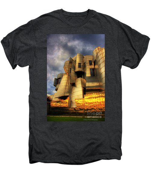 Minneapolis Skyline Photography Weisman Museum Men's Premium T-Shirt by Wayne Moran