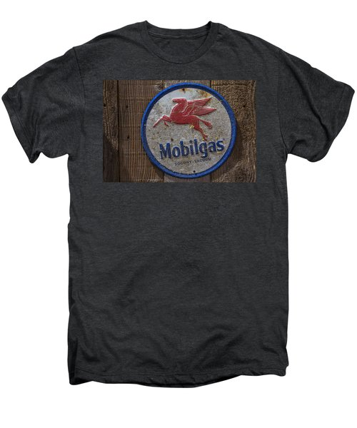 Mobil Gas Sign Men's Premium T-Shirt by Garry Gay
