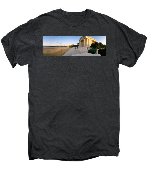 Monument At The Riverside, Jefferson Men's Premium T-Shirt by Panoramic Images