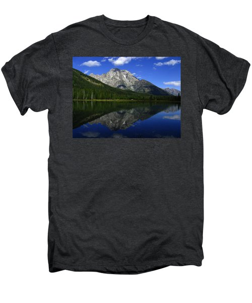 Mount Moran And String Lake Men's Premium T-Shirt