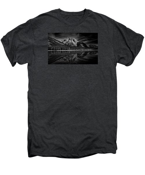 Mount Moran In Black And White Men's Premium T-Shirt