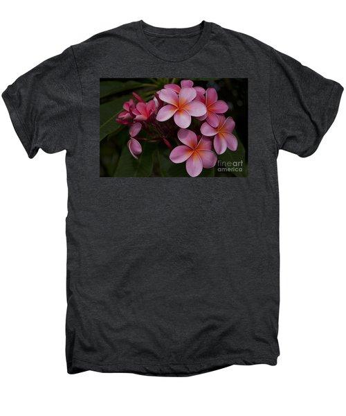 Na Lei Pua Melia O Wailua - Pink Tropical Plumeria Hawaii Men's Premium T-Shirt