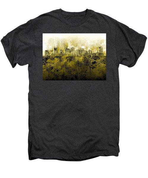 Nashville Skyline Watercolor 4 Men's Premium T-Shirt