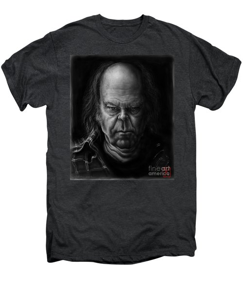 Neil Young Men's Premium T-Shirt by Andre Koekemoer