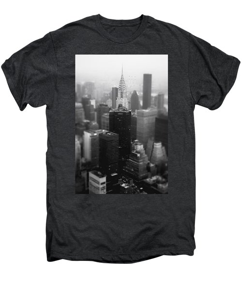 New York City - Fog And The Chrysler Building Men's Premium T-Shirt by Vivienne Gucwa
