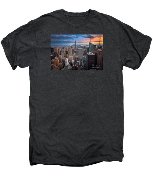 New York New York Men's Premium T-Shirt by Inge Johnsson