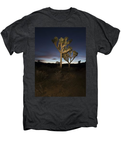 Night Light Painting Joshua Tree National Park Men's Premium T-Shirt