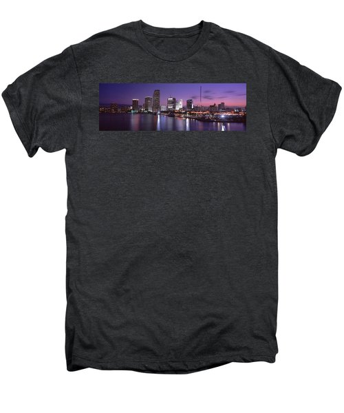 Night Skyline Miami Fl Usa Men's Premium T-Shirt