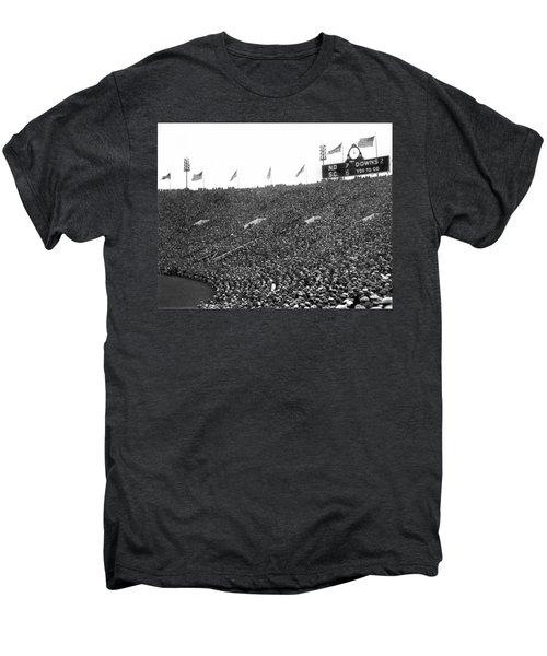 Notre Dame-usc Scoreboard Men's Premium T-Shirt by Underwood Archives