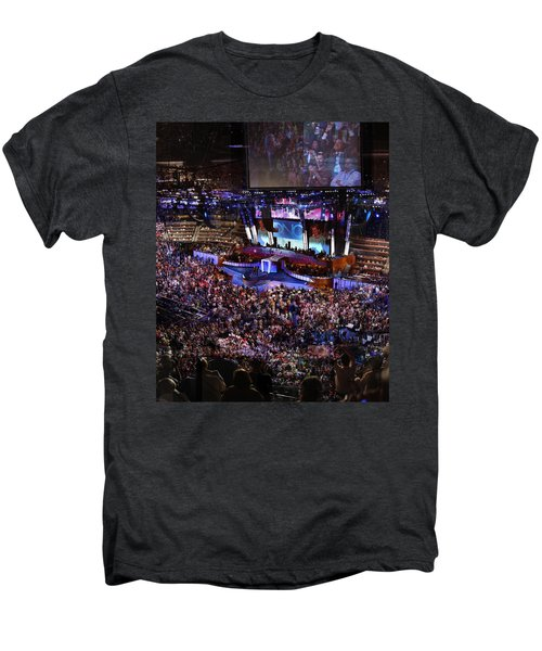Obama And Biden At 2008 Convention Men's Premium T-Shirt by Stephen Farley